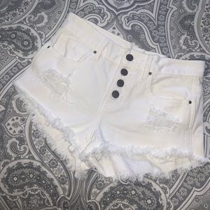 Bullhead high-waisted White Shorts
